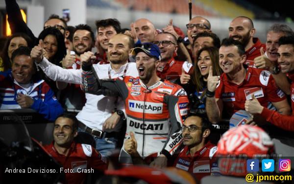Lihat Gaya Dovizioso Setelah Dapat Kontrak Baru dari Ducati - JPNN.COM