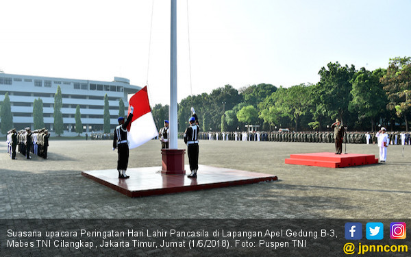 Teguh Pimpin Upacara Peringatan Hari Pancasila di Mabes TNI - JPNN.com