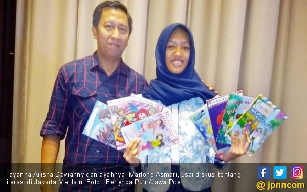 Kisah Fayanna Ailisha, Usia 13 Tahun Sudah Hasilkan 42 Buku - JPNN.COM