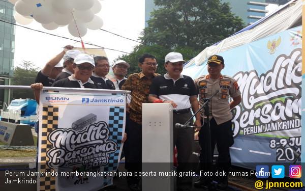 Perum Jamkrindo Berangkatkan 1.700 Peserta Mudik Bareng BUMN - JPNN.com