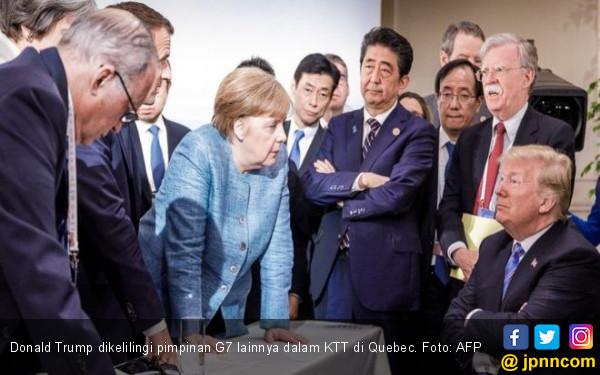 Arogansi Trump Kacaukan KTT G7 - JPNN.COM