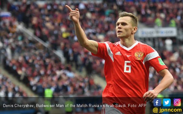 Denis Cheryshev, Budweiser Man of the Match Rusia vs Arab Saudi. Foto: AFP