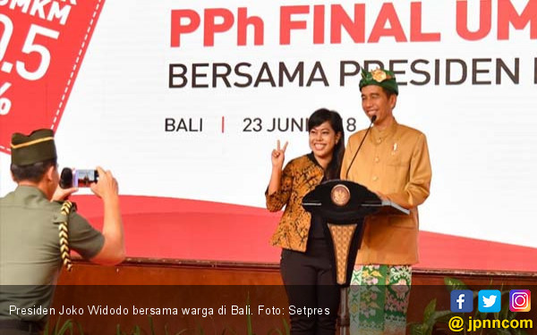 Jokowi Heran, Hadiah Sepedanya Tak Laku di Bali - JPNN.com