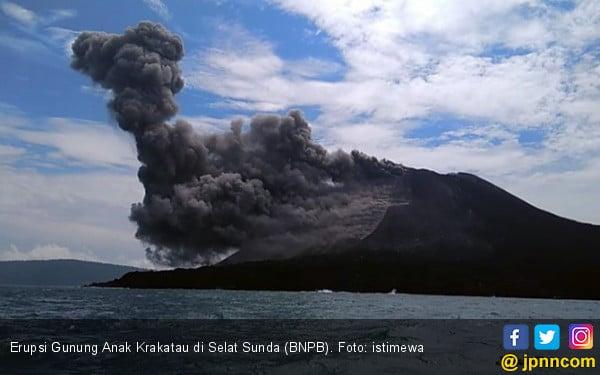 Gunung Anak Krakatau Meletus 576 Kali dalam Satu Hari - JPNN.COM