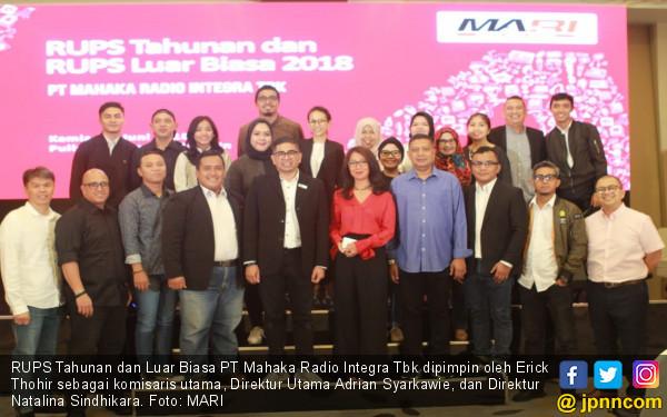 Revenue Naik, Mahaka Radio Integra Sebar Dividen Rp 6,3 M - JPNN.COM