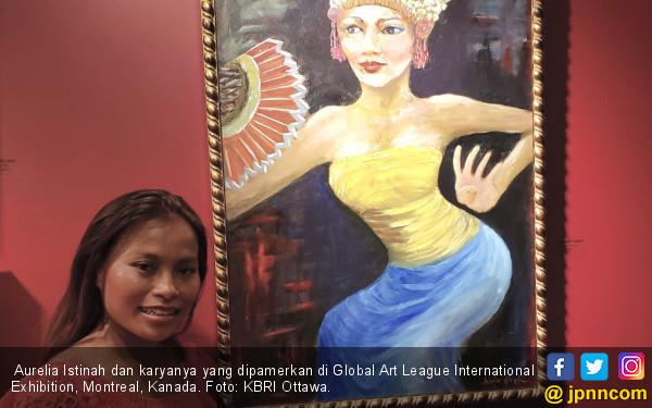 Lukisan Karya Aurelia Istinah Pikat Publik Kanada - JPNN.com