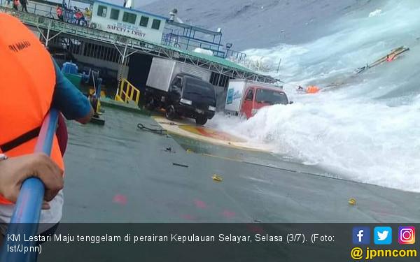 Nakhoda KM Lestari Maju Dijadikan Tersangka - JPNN.COM