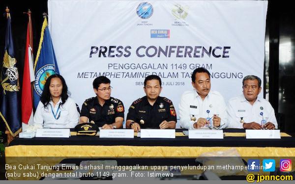 Bea Cukai Tanjung Emas Amankan 1,149 Kilogram Sabu-sabu - JPNN.COM