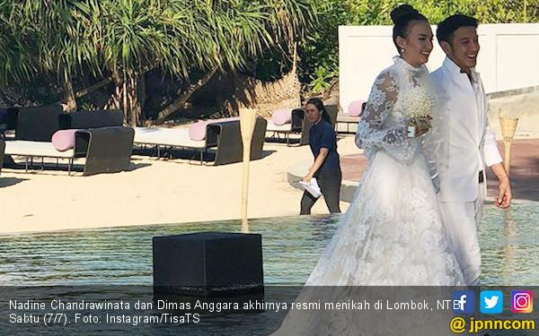 Serpaputih di Resepsi Nadine Chandrawinata - Dimas Anggara - JPNN.com