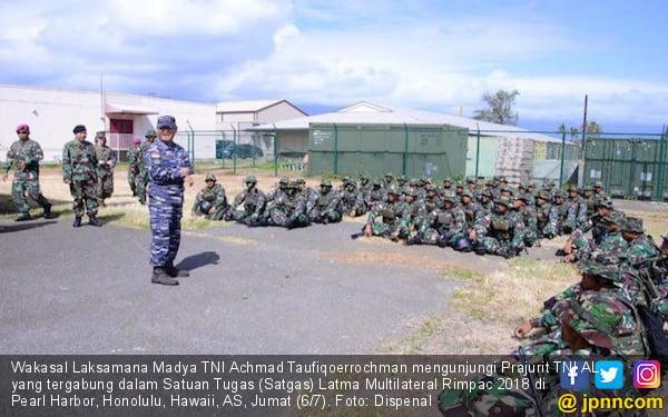 Satgas Latma Multilateral RIMPAC 2018 Sambut Wakasal - JPNN.COM