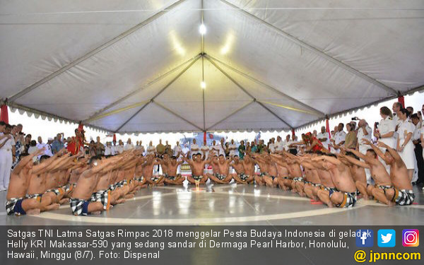 Satgas TNI AL RIMPAC 2018 Perkenalkan Budaya Indonesia - JPNN.COM