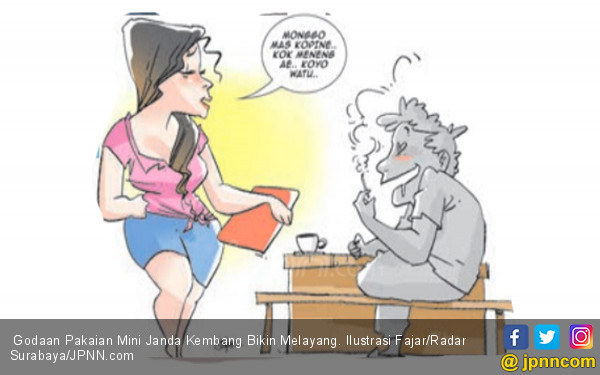Godaan Pakaian Mini Janda Kembang Bikin Melayang - JPNN.COM
