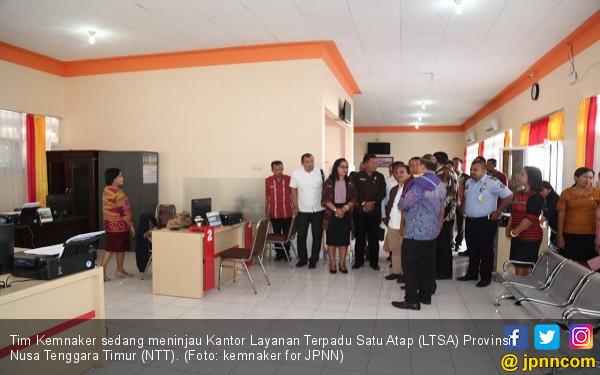 Kemnaker Tinjau Pelayanan Pekerja Migran di LTSA Prov. NTT - JPNN.COM
