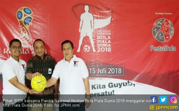 Buruh & Pengusaha Nobar Final Piala Dunia 2018 Bersama SIER - JPNN.COM