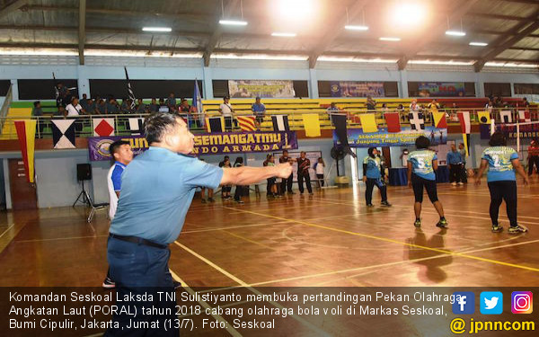 Kotama TNI AL Ikut Pertandingan PORAL 2018 Cabor Bola Voli - JPNN.com