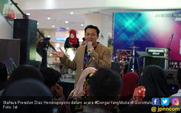 Stafsus Jokowi Dorong Anak Muda Gorontalo Berkreasi - JPNN.COM