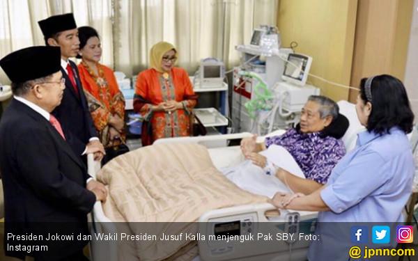 5 Foto Pak SBY di Rumah Sakit, Ada Jokowi dan Prabowo - JPNN.COM