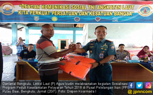 Lanal Bengkulu Menggiatkan Peduli Keselamatan Pelayaran - JPNN.COM