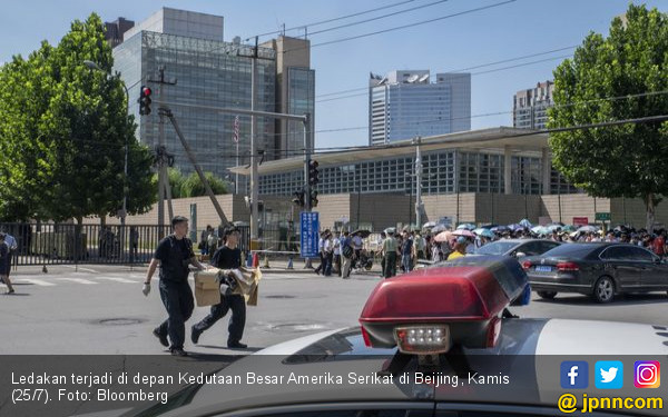 Ledakan di Kedubes Amerika Buyarkan Antrean Visa - JPNN.com