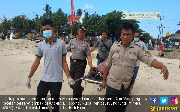 Selfie Maut, Turis Tiongkok Tewas Terseret Ombak Nusa Penida - JPNN.COM