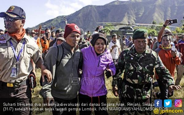 Cerita Pendaki Gunung Rinjani Terjebak Gempa, Mengerikan - JPNN.COM