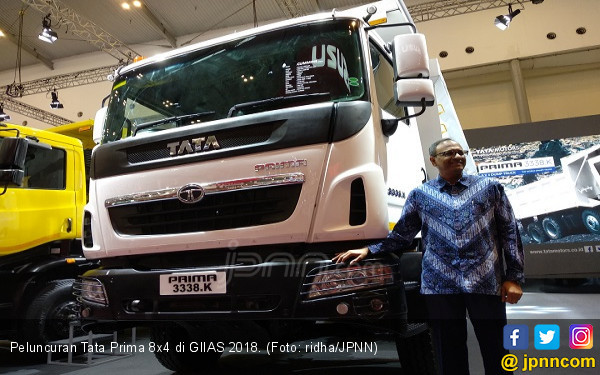GIIAS 2018: Tata Prima 8x4 Jagoan Baru TMDI di Pertambangan - JPNN.com