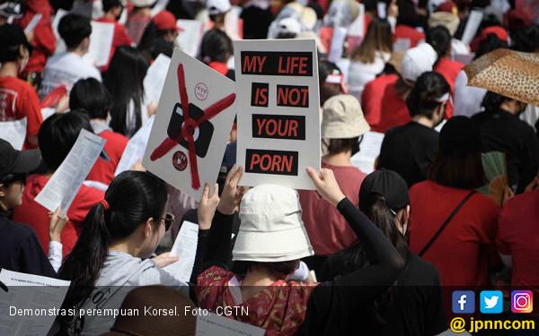 Perempuan Korsel: Hidupku Bukan Pornografi-mu! - JPNN.COM