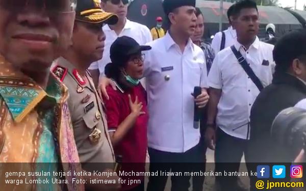 Video Ketika Komjen Iriawan Ikut Rasakan Gempa Lombok 6,2 SR - JPNN.COM