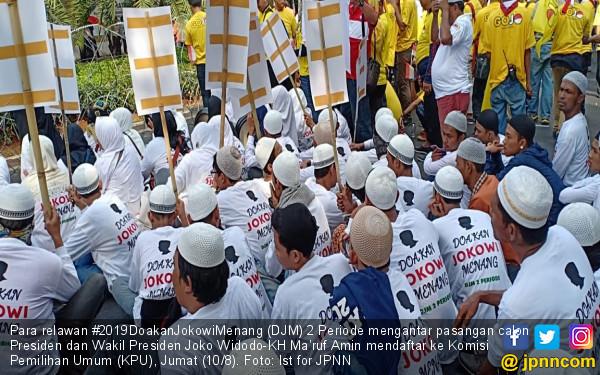 Relawan DJM 2 Periode Antar Jokowi-Ma'ruf Amin Daftar ke KPU - JPNN.COM