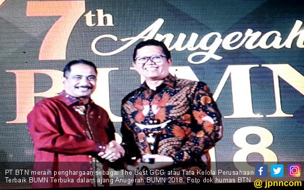 Anugerah BUMN 2018, BTN Sabet The Best GCG - JPNN.COM