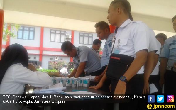 72 Petugas Lapas Palembang Mendadak Dites Urine, Hasilnya? - JPNN.COM