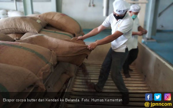 Kementan Kawal 300 Ton Cocoa Butter Kendari ke Belanda - JPNN.COM