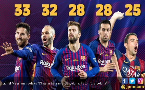 33 Gelar! Lionel Messi Sah jadi Dewa Barcelona - JPNN.COM