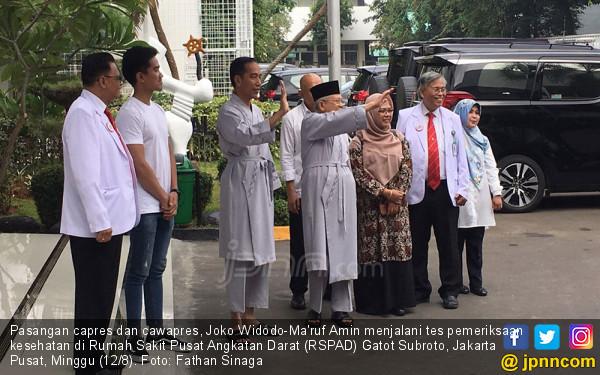 Diperiksa 12 Jam, Pak Jokowi dan Kiai Ma'ruf Mengaku Sehat - JPNN.COM