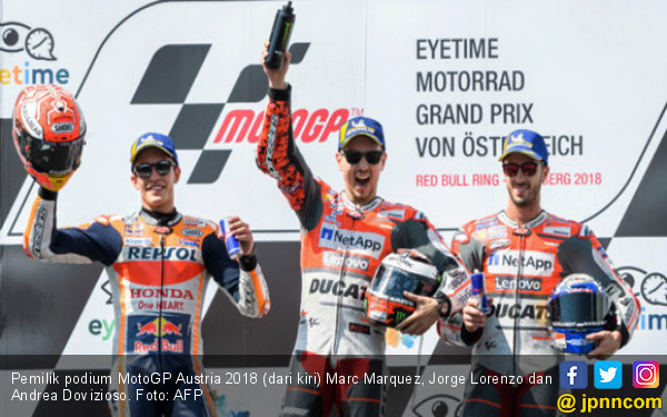 Klasemen MotoGP 2018: Jorge Lorenzo Salip Andrea Dovizioso - JPNN.COM