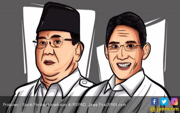 Prabowo - Sandi Periksa Kesehatan di RSPAD - JPNN.COM