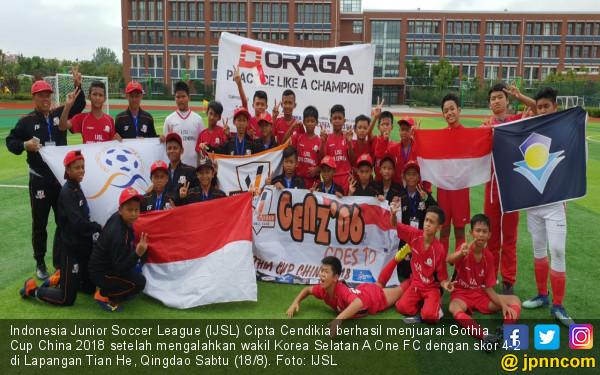 IJSL Cipta Cendekia Juara Gothia Cup China 2018 - JPNN.COM