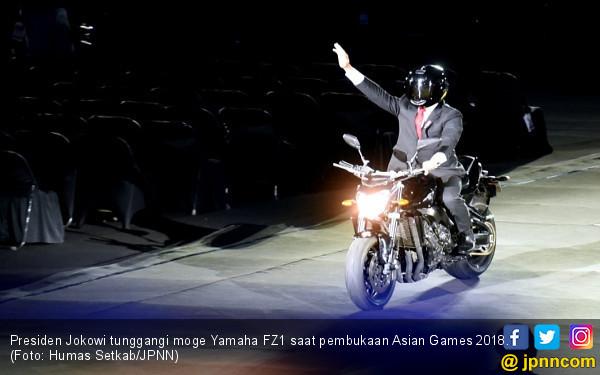 Epik! Jokowi Geber Moge Yamaha di Pembukaan Asian Games 2018 - JPNN.com