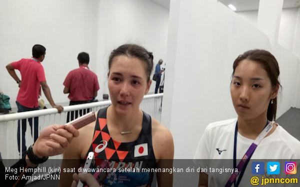 Heboh Atlet Cantik Jepang Menangis di Mixed Zone - JPNN.com
