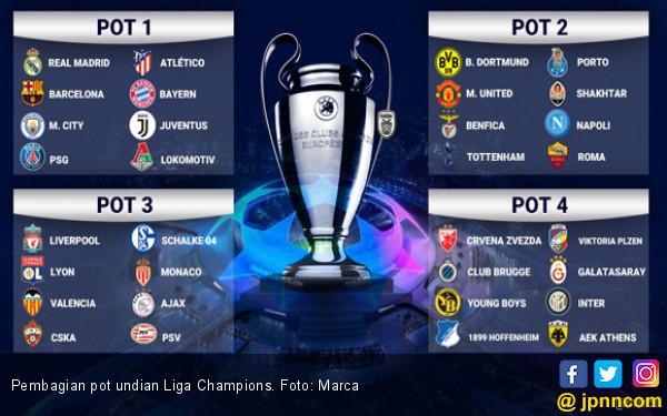 Pembagian Pot Undian Grup Liga Champions Malam Ini - JPNN.com