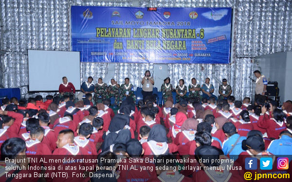 Ratusan Pramuka Saka Bahari Dididik di Kapal Perang - JPNN.com