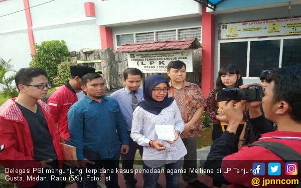 Sampaikan Dukungan, Delegasi PSI Besuk Meliana di Lapas - JPNN.com