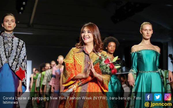 Coreta Louise Tampilkan Batik Sulut di New York Fashion Week - JPNN.COM