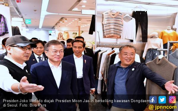 Blusukan di Seoul, Jokowi Teringat Pasar Tanah Abang - JPNN.COM
