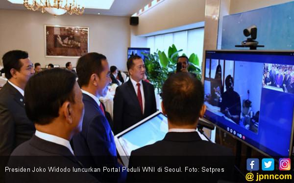 Jokowi Luncurkan Portal Peduli WNI di Seoul - JPNN.COM