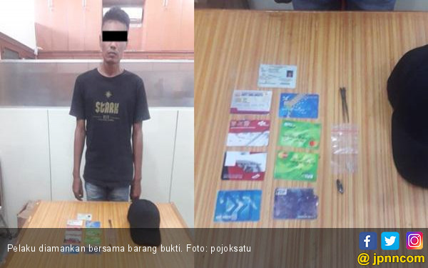Pembobol Mesin ATM Diciduk Saat Beraksi di Alfamidi SM Raja - JPNN.COM