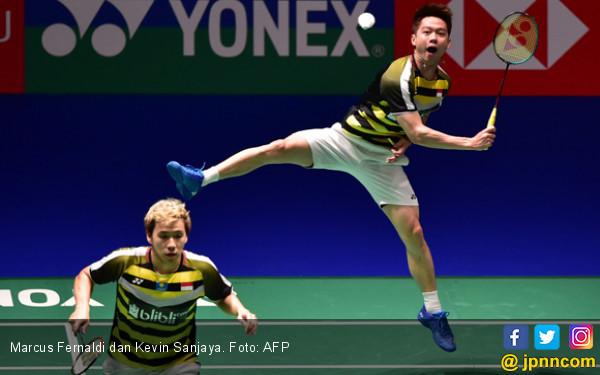 Final Japan Open: Head to Head Marcus/Kevin vs Tiang Listrik - JPNN.COM