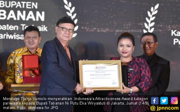 Tabanan Kembali Raih Indonesia's Attractiveness Award - JPNN.COM