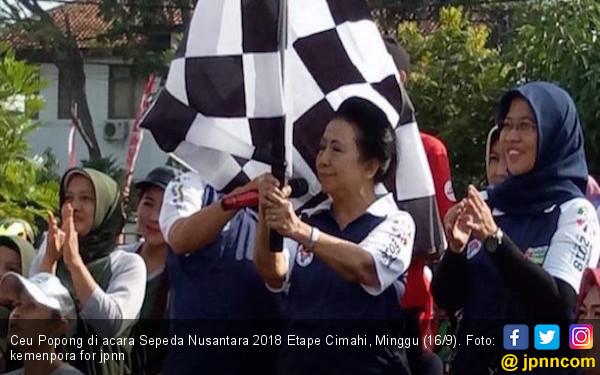 Ceu Popong Apresiasi Kemenpora Gelar Sepeda Nusantara Cimahi - JPNN.COM