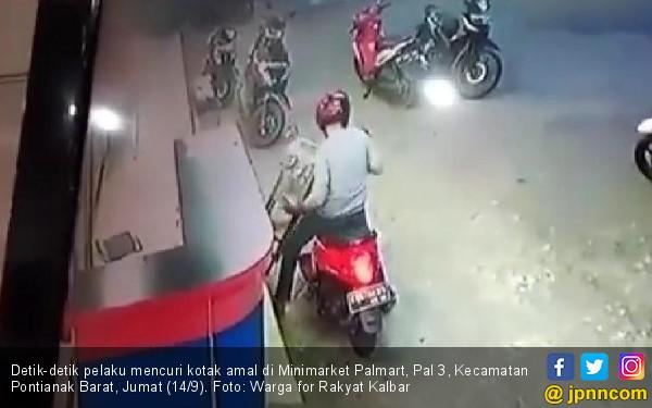 Lihat tuh, Pencuri Kotak Amal Terekam CCTV - JPNN.COM